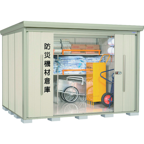 【運賃見積り】【直送品】タクボ 防災機材倉庫 BND型 一般型 2900×2290×2110 BND-2922W