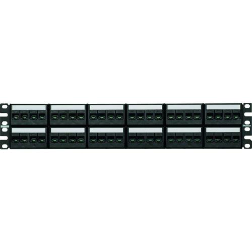 【直送品】パンドウイット カテゴリ6モジュラーパッチパネルキット 4ポートフェースプレートタイプ 48ポート 2U CPPKL6TG48WBL CPPKL6G48WBL