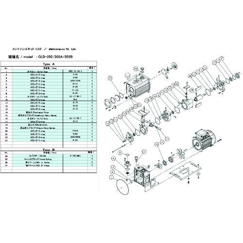 ULVAC GLD-202用メンテナンスキットA GLD-202 MAINTENANCEKIT A