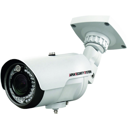 【運賃見積り】【直送品】日本防犯システム AHD対応2.2メガピクセル蜘蛛の巣ガード機能搭載屋外ワンケーブルIRカメラ JS-CA1120
