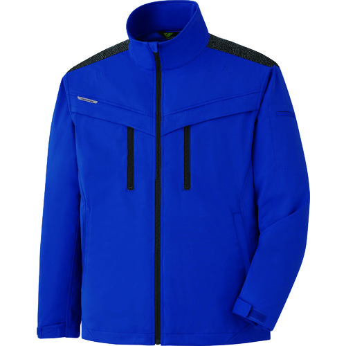 ミドリ安全 VERDEXCEL ストレッチ防寒ジャンパー VE2003 上 ロイヤルブルー 3L VE2003-UE-3L
