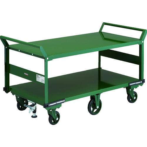 【直送品】TRUSCO 鋼鉄製運搬車 1400X750 両袖2段型 鋳物6輪車 S付 OH-1L2W-6S
