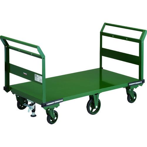 【直送品】TRUSCO 鋼鉄製運搬車 1400X750 両袖型 鋳物6輪車 LS付 OH-1LW-6SS