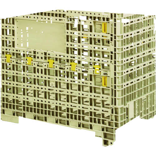 【直送品】サンコー 大型部品用通い箱 TLコンパレッターF#830 Aグレー SK-TLKPF830AGL