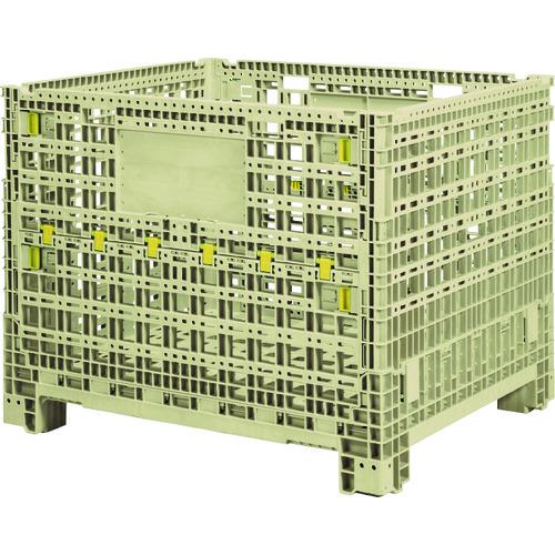 【直送品】サンコー 大型部品用通い箱 TLコンパレッターF#880 Aグレー SK-TLKPF880AGL