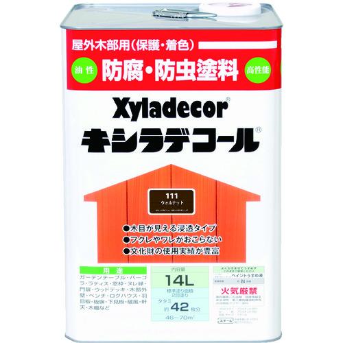新しい季節 ウォルナット KANSAI 14L 00017670600000:KanamonoYaSan KYS キシラデコール -DIY・工具