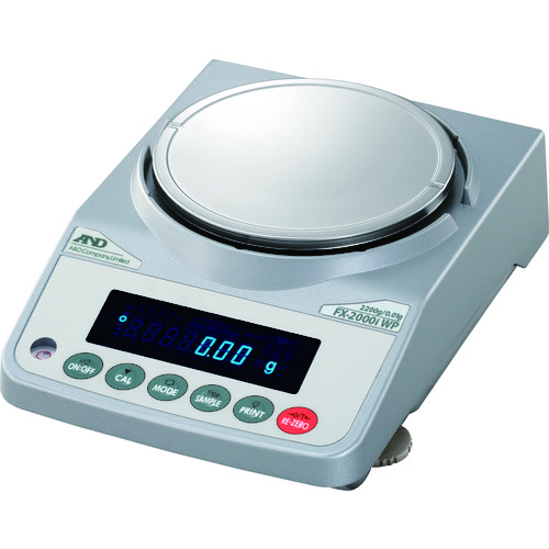 【直送品】A&D 防塵・防水汎用天びん FX2000iWP 一般校正付 FX2000IWP-JA-00A00