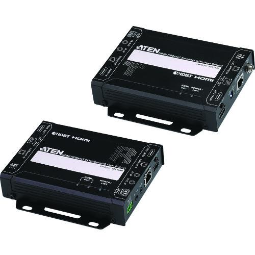 【直送品】ATEN ビデオ延長器/HDMI/4K対応/1ローカル・2リモート出力 VE814A