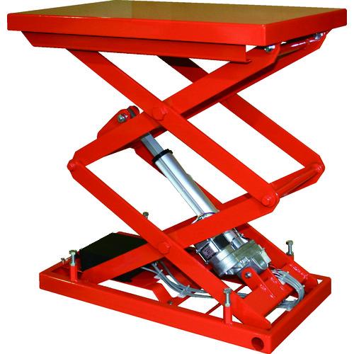 【直送品】TRUSCO テーブルリフト100kg(電動Bねじ式200V)520×850mm HDL-W1058R-22