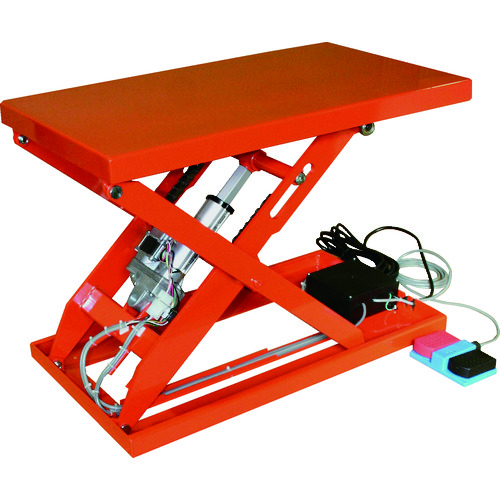 【直送品】TRUSCO テーブルリフト100kg 電動Bねじ式 DC12Vバッテリー専用 400×720 HDL-L1047R-D1