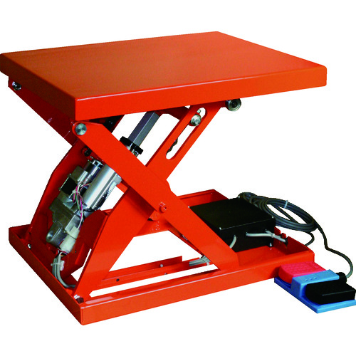 【直送品】TRUSCO テーブルリフト150kg 電動Bねじ式 DC12Vバッテリー専用 400×500 HDL-L1545R-D1