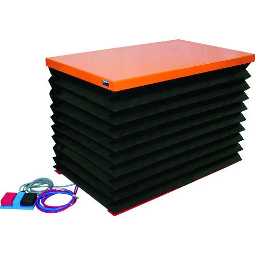 【直送品】TRUSCO テーブルリフト100kg 電動Bねじ式 DC24Vバッテリー専用 蛇腹付520×850 HDL-H1058RJ-D2