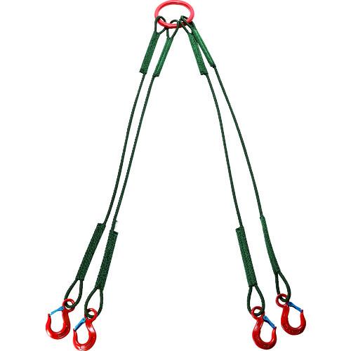 【直送品】TRUSCO 4本吊セフティパワーロープ 径9mm 長さ1.5m SP4-915-900