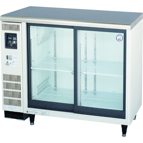 【直送品】福島工業 スライド扉小型冷蔵ショーケース 139L TGU-30RE1