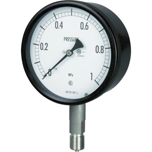 長野 密閉形圧力計 A枠立型 Φ100 最小目盛0.050 BE10-133-2.5MP