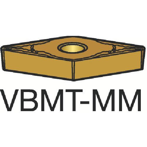 サンドビック コロターン107 旋削用ポジ・チップ 2025 10個 VBMT 16 04 08-MM:2025