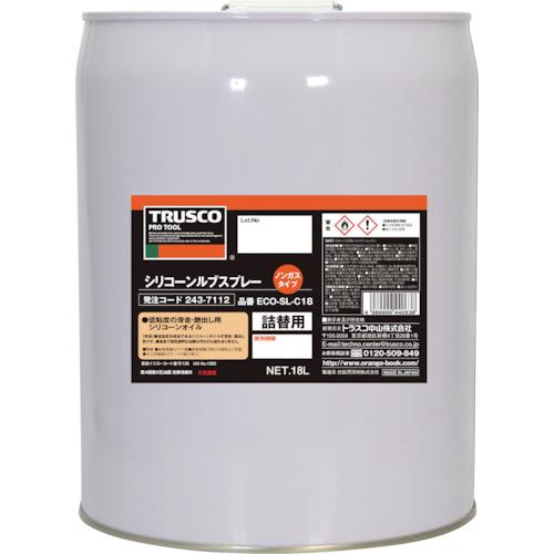 【直送品】TRUSCO αシリコンルブ 18L ECO-SL-C18