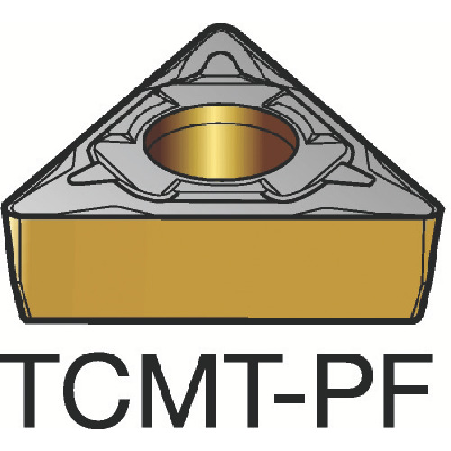 サンドビック コロターン107 旋削用ポジ・チップ 1515 10個 TCMT 06 T1 02-PF:1515