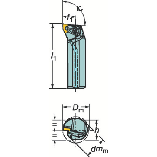 【1/10限定!Wエントリーでポイント14倍!】サンドビック コロターンRC ネガチップ用ボーリングバイト A50U-DWLNR 08