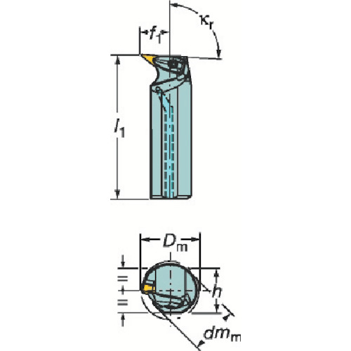 サンドビック コロターンRC ネガチップ用ボーリングバイト A40T-DVUNL 16