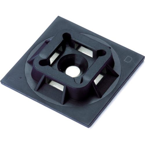 パンドウイット マウントベース アクリル系粘着テープ付き 耐候性黒(500個入) ABM100-AT-D0