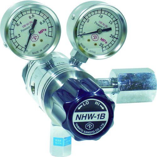 ヤマト 分析機用フィン付二段圧力調整器 NHW-1B NHW1BTRCCO2