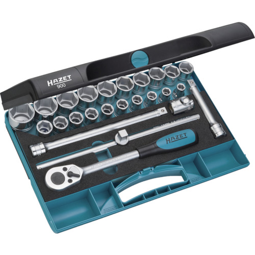 HAZET ソケットレンチセット(6角タイプ・差込角12.7mm) 900