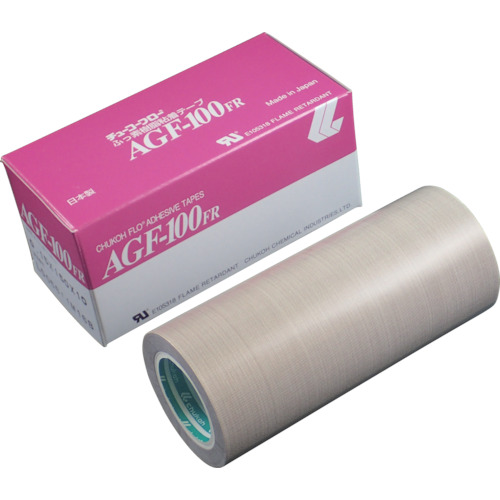 チューコーフロー フッ素樹脂(テフロンPTFE製)粘着テープ AGF100FR 0.18t×150w×10m AGF100FR-18X150