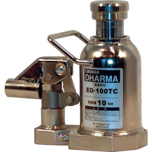【個別送料2000円】【直送品】イーグル 低床・クリーンルームレバー回転油圧ジャッキ能力10t ED-100TC