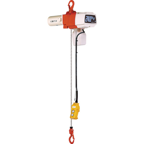数量は多 【運賃見積り】【直送品】キトー 単相200V KYS EDX10S:KanamonoYaSan  セレクト電気チェーンブロック1速 100kg(S)x3m-DIY・工具
