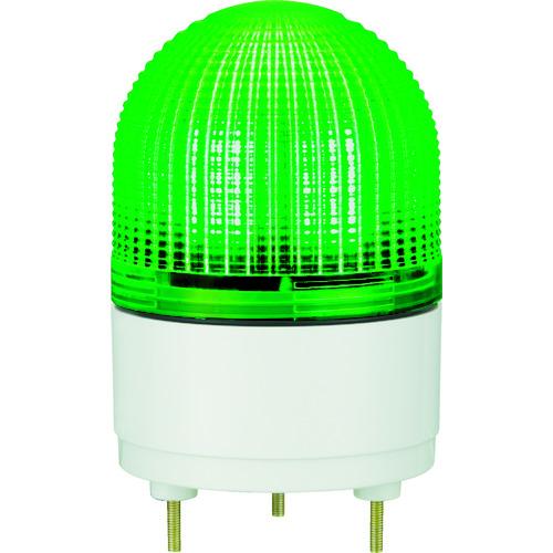 【運賃見積り】【直送品】パトライト KHE型 LED表示灯 Φ100 点滅・流動・ストロボ発光 緑 KHE-24-G