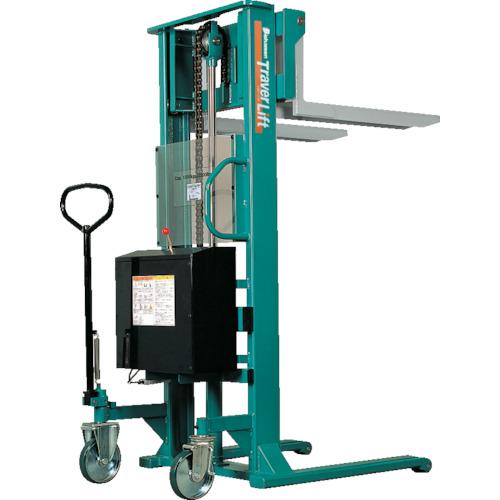 【運賃見積り】【直送品】ビシャモン トラバーリフト(バッテリー上昇式) 均等荷重1000kg 充電時間 ST100E