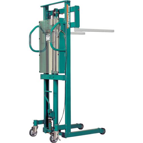 【運賃見積り】【直送品】ビシャモン トラバーリフト(手動油圧式)早送り装置付 均等荷重250kg ST25H