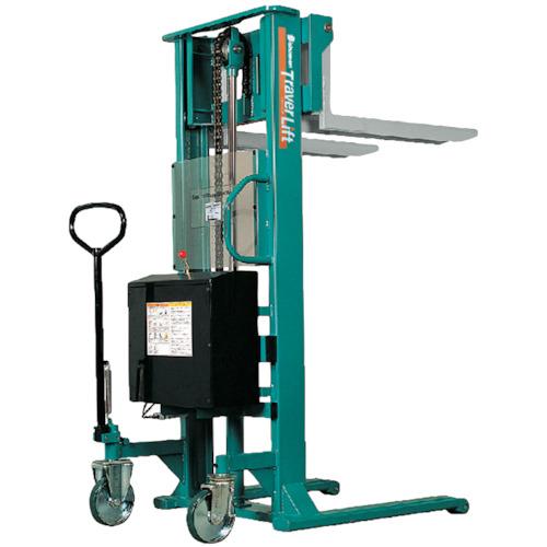 【運賃見積り】【直送品】ビシャモン トラバーリフト(バッテリー上昇式) 均等荷重800kg 充電時間 ST80E