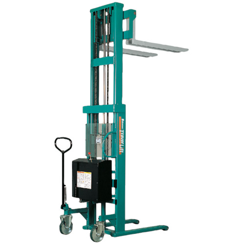 【運賃見積り】【直送品】ビシャモン トラバーリフト(バッテリー上昇式) 均等荷重500kg 充電時間 STW50E