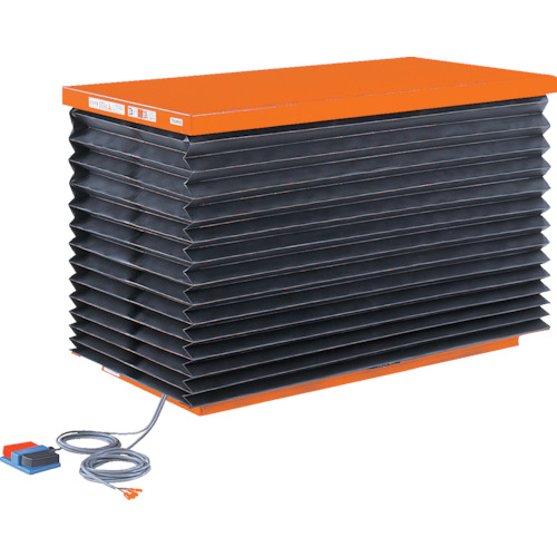 【直送品】TRUSCO テーブルリフト1000kg 油圧式 750X1350 蛇腹付 HDL-100-0713J