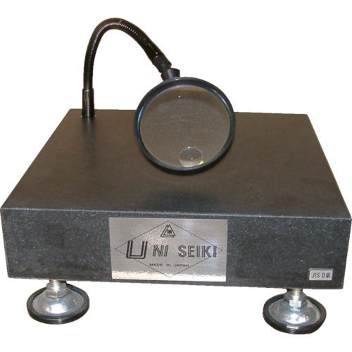選ぶなら 【運賃見積り】【直送品】ユニ 石定盤スタンド ルーペ付 KYS  UR3030:KanamonoYaSan-DIY・工具