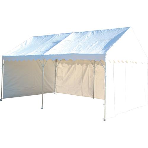 【直送品】旭 防災用テント 2間X4間 三方幕付 白 NHTS-53S
