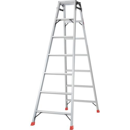 【個別送料1000円】【直送品】TRUSCO はしご兼用脚立 アルミ合金製・脚カバー付 高さ1.98m THK-210