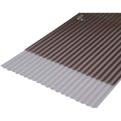 【直送品】IRIS 543952 ポリカ波板 NIPC-607NJ 幅655mm×長さ1820mm ブロンズ 10枚 NIPC-607NJ-BRS