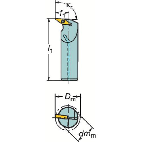 サンドビック コロターン107 ポジチップ用ボーリングバイト A25TSVUBL16D