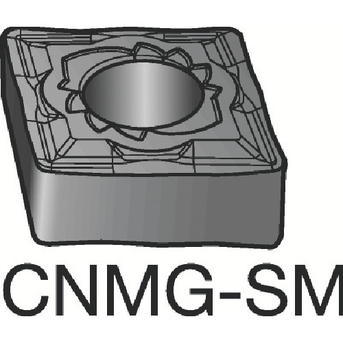 サンドビック T-Max P 旋削用ネガ・チップ 1125 10個 CNMG 12 04 08-SMR:1125