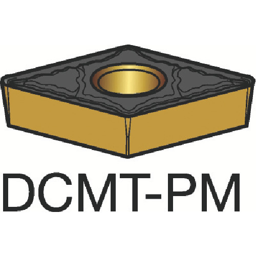 サンドビック コロターン107 旋削用ポジ・チップ 5015 10個 DCMT 11 T3 04-PM:5015
