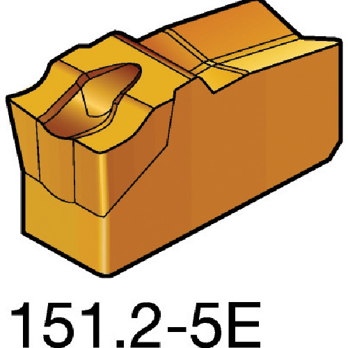 サンドビック T-Max Q-カット 突切り・溝入れチップ 525 10個 N151.2-400-5E:525