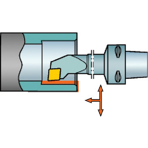 サンドビック コロマントキャプト コロターン107用カッティングヘッド C4-SCLCR-11070-09