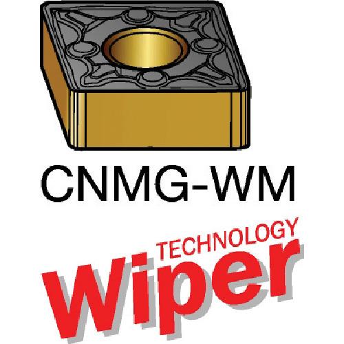 サンドビック T-Max P 旋削用ネガ・ワイパーチップ 2015 10個 CNMG 12 04 12-WM:2015