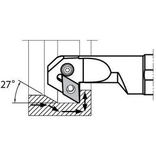 【1/10限定!Wエントリーでポイント14倍!】京セラ 内径加工用ホルダ S32S-PDZNR15-44