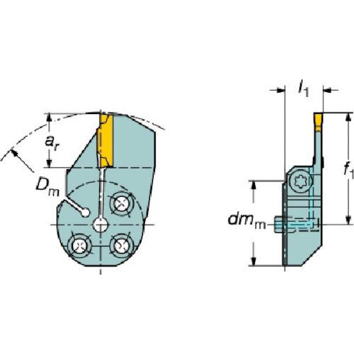 サンドビック コロターンSL コロカット1・2用端面溝入れブレード 570-32R123H18B040B