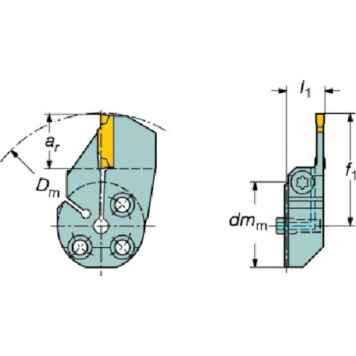サンドビック コロターンSL コロカット1・2用端面溝入れブレード 570-32R123H18B092B