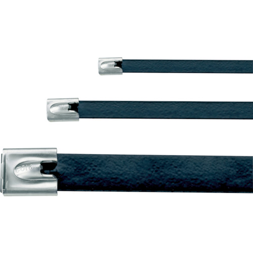 パンドウイット MLTタイプ フルコーティングステンレススチールバンド SUS316 黒 幅12.9mm 長さ754mm 50本入り MLTFC8EH-LP316 MLTFC8EH-LP316